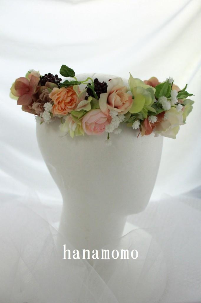 ウェディングの花 花冠