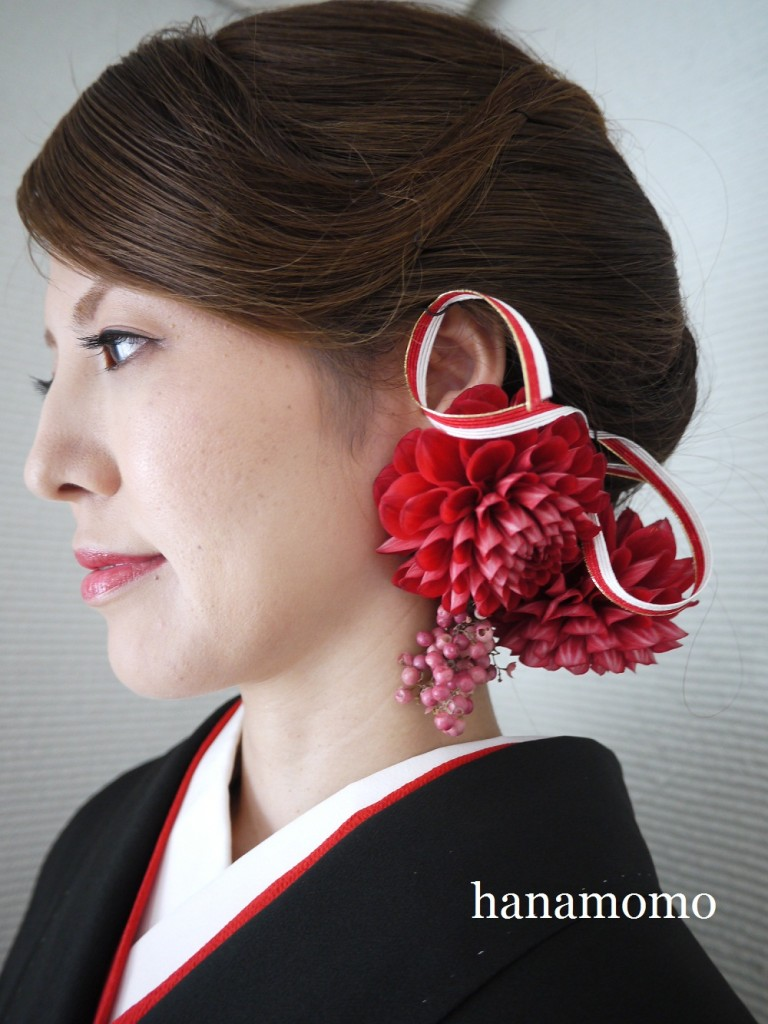 ウェディングの花  和の髪飾り