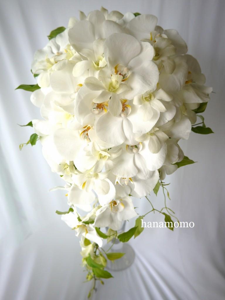 ウェディンぐの花  ウェディングブーケ 胡蝶蘭
