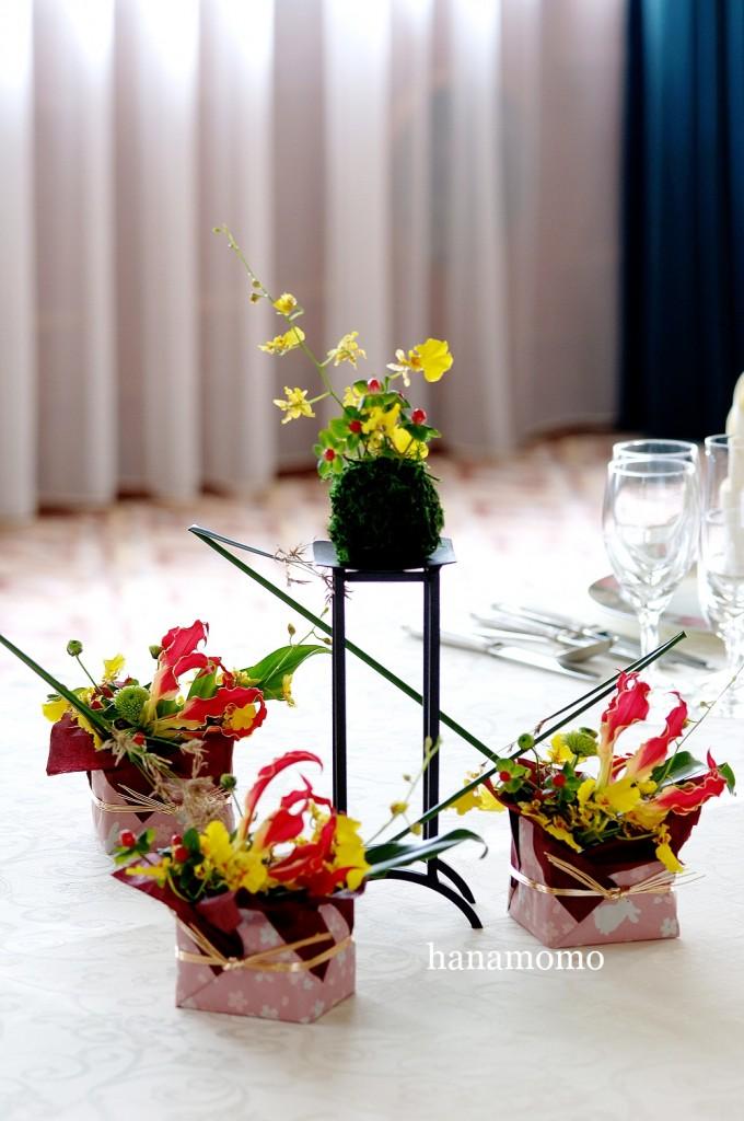 会場装花 和