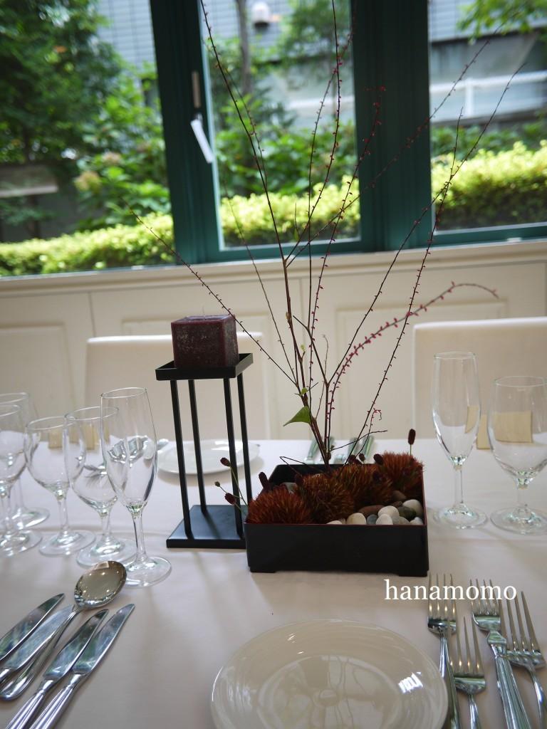 ウェディングの花 会場装花 ゲストテーブル