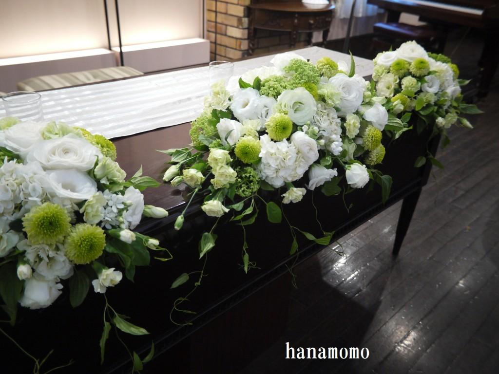 ウェディングの花メインテーブルの花
