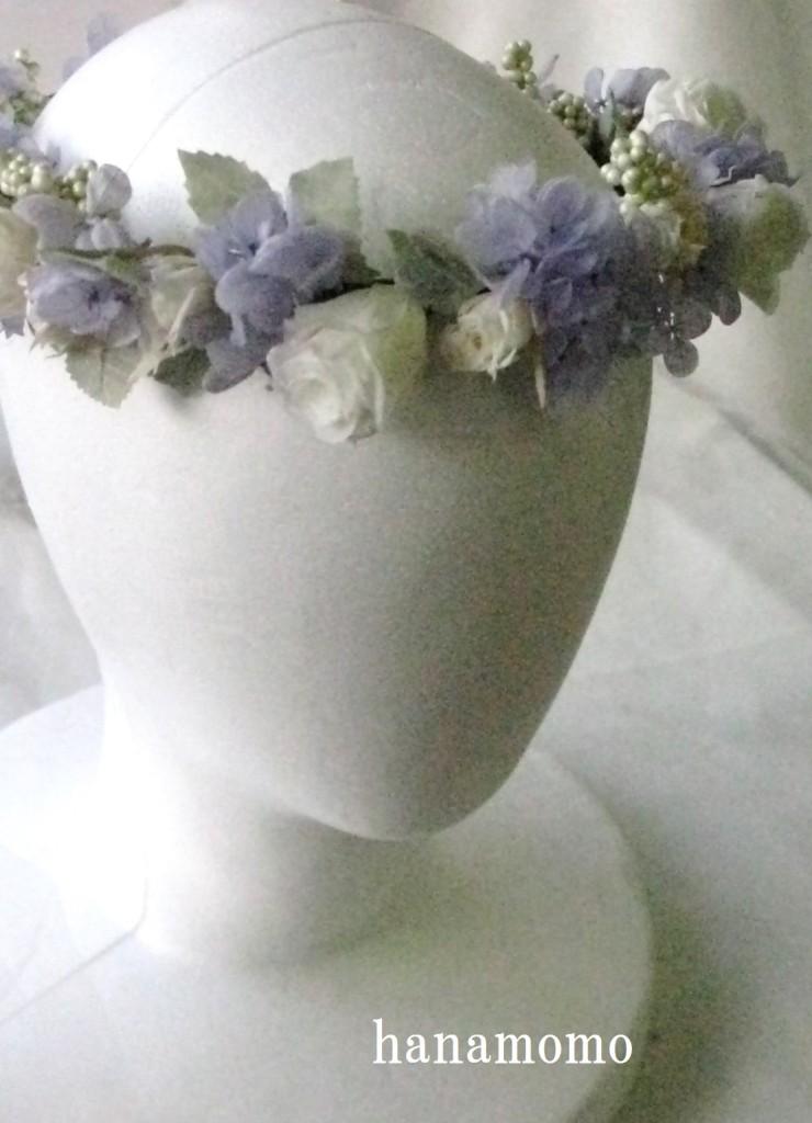 プリザーブト゛フラワーの花冠
