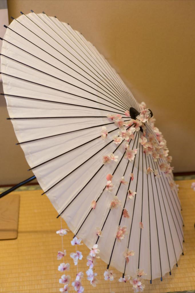 ウェディングの花 桜の番傘