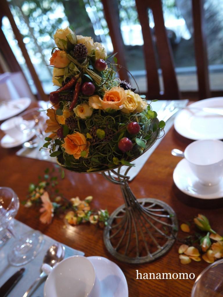 ウェディングの花  会場装y花  ゲスト花
