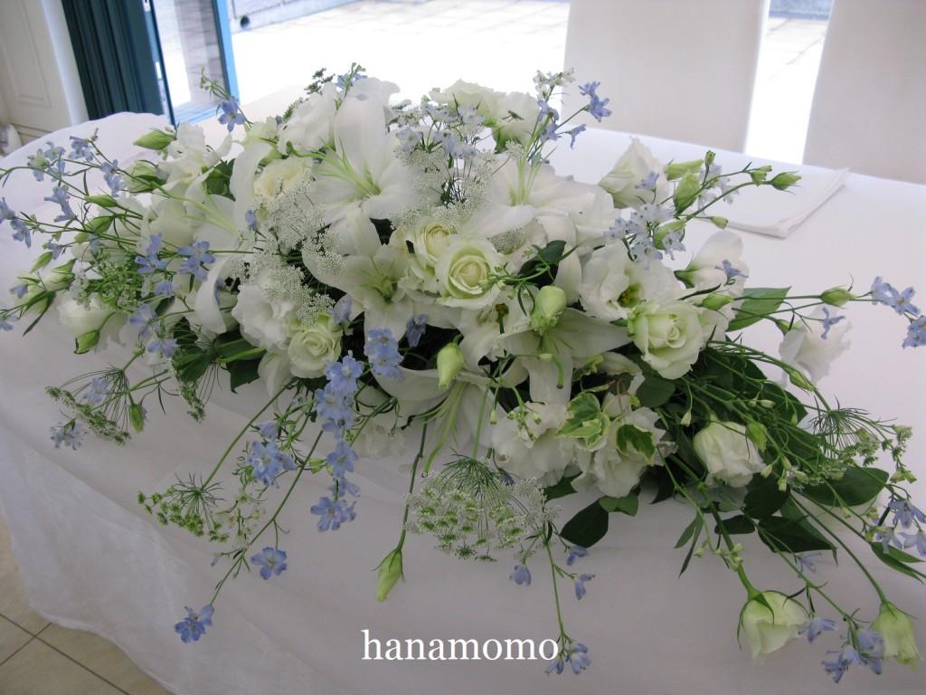 ウェディングの花  メインテーブル
