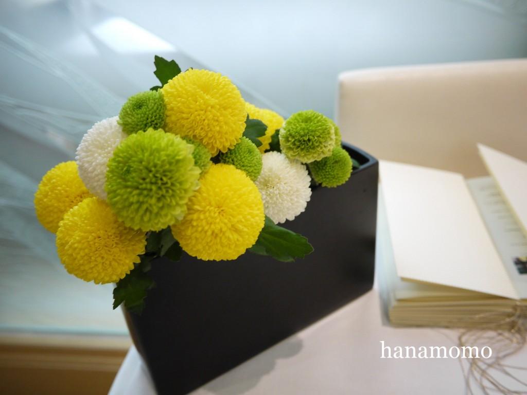 ウェディングの花  受付花