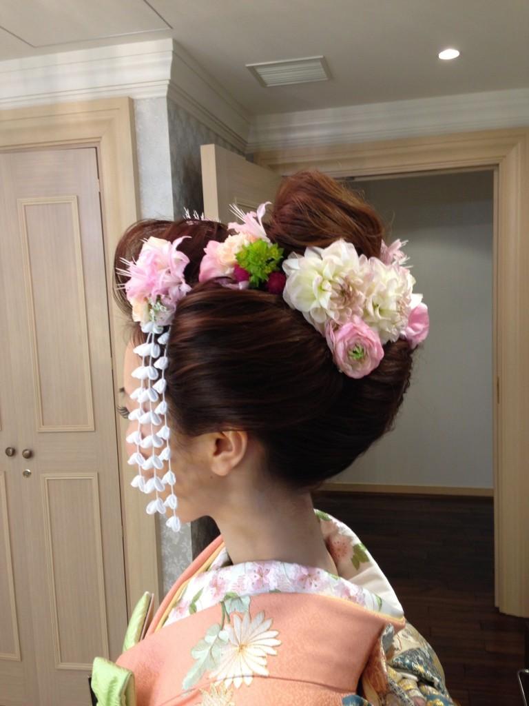 つまみ簪と生花